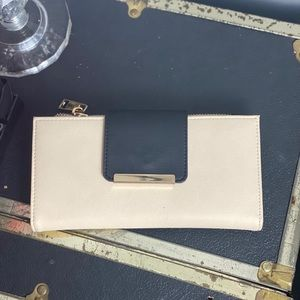 Aldo Bags - Aldo Cream and Black Wallet
